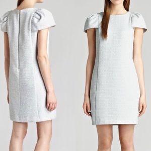 NWT Reiss Puff Sleeve Tweed Shift Dress Amis Max